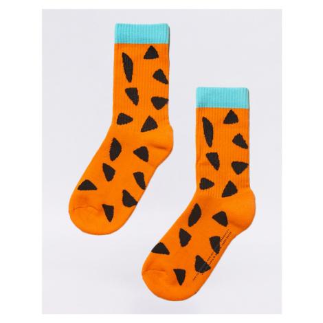 Lazy Oaf Flintstones Fred Socks Orange