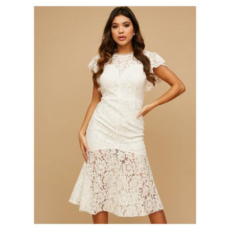 Biele krajkové šaty Little Mistress