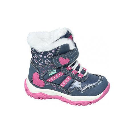 Tmavomodrá detská zimná obuv s TEX membránou Cortina