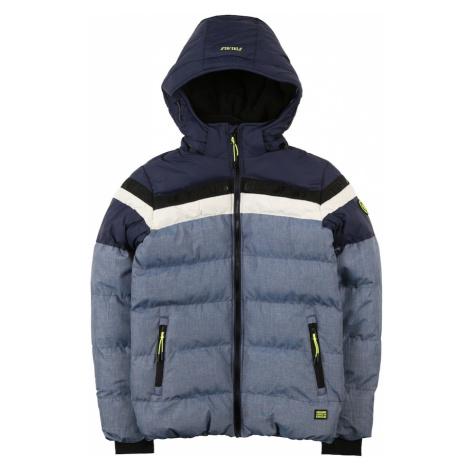 Cars Jeans Zimná bunda 'BYRAM'  námornícka modrá / čierna / biela / neónovo zelená / modrá melír