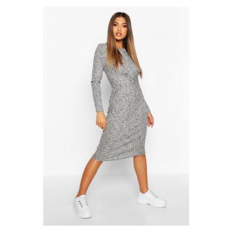 Midi šaty s dlhým rukávom Boohoo