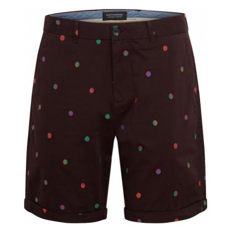 SCOTCH & SODA Chino nohavice  bordová / zmiešané farby