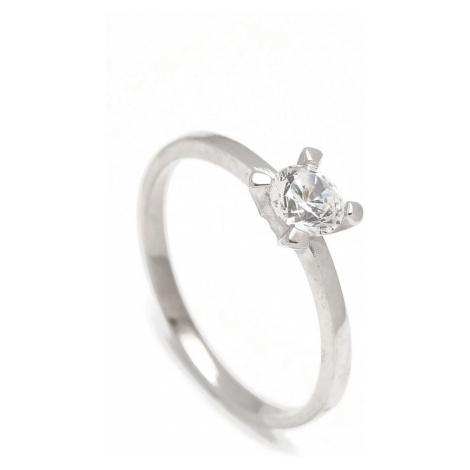 Zlatý zásnubný prsteň DAISY white