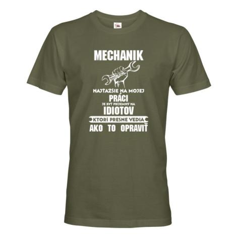 Pánske tričko pre mechanikov - ideálny darček nielen k narodeninám