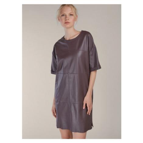 Rovné kožené šaty KARA