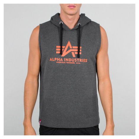 Alpha Industries - Basic Hooded Tank - Charcoal Heather