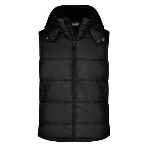 James & Nicholson Pánska zimná vesta s kapucňou JN1004