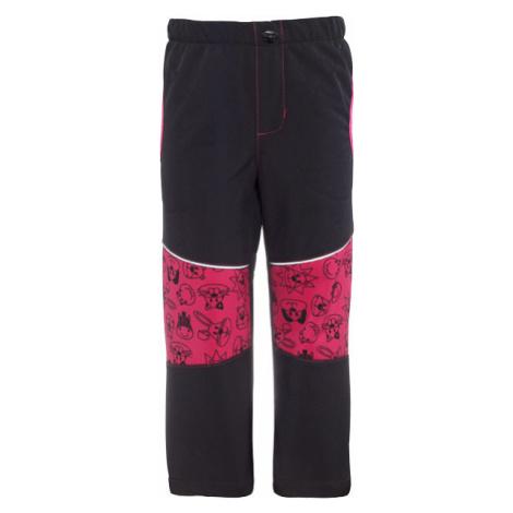 GOOD2GO Softshellové nohavice čierne / ružové - veľ. 80