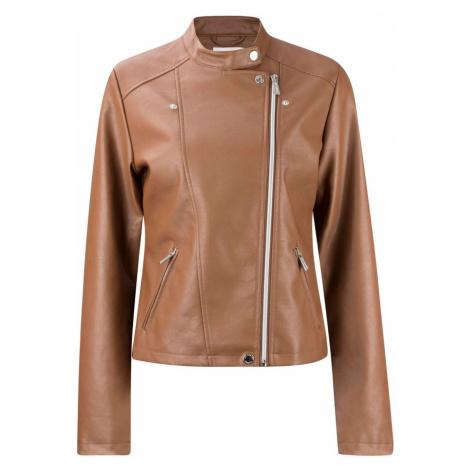 Lee Cooper Biker PU Jacket Ladies Brown
