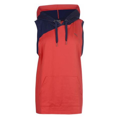 Puma ACE Sleeveless Hoody Ladies Red/Navy