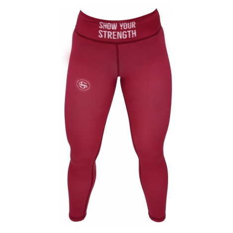 ShowYourStrength Woman's Leggings Leggings Burgundy
