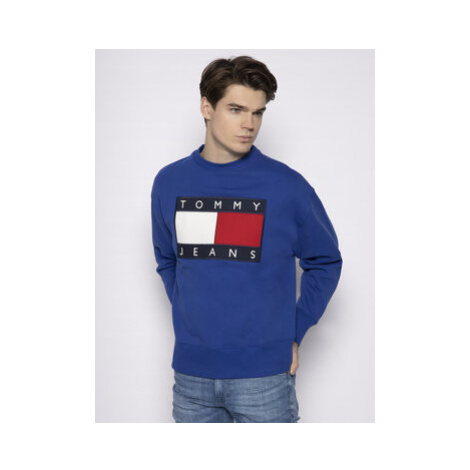 Tommy Jeans Mikina Tjw Flag Crew DM0DM07201 Modrá Regular Fit Tommy Hilfiger