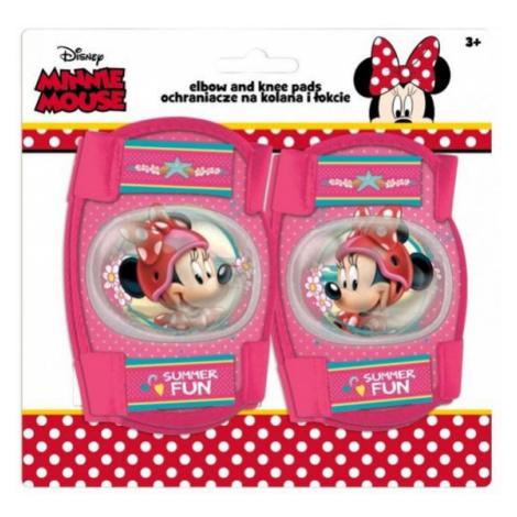 Disney CHRÁNIČE LAKTE + KOLENÁ ružová - Detské chrániče