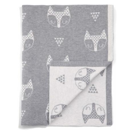 MAMAS & PAPAS Pletená deka 70x90 cm - líšky šedá