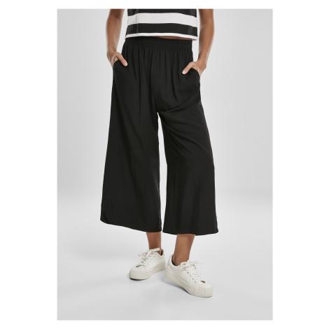 Dámske nohavice URBAN CLASSICS Ladies Wide Viscose Culotte black