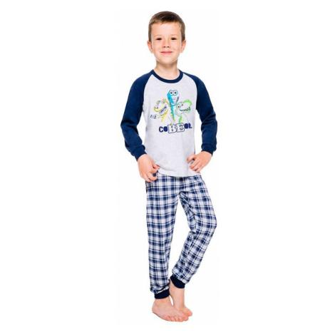 Chlapčenské pyžamo Oskar šedé dinosaury Taro