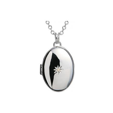 Hot Diamonds Náhrdelník s medailónom a diamantom DP143_DP549 (retiazka, prívesok) cm