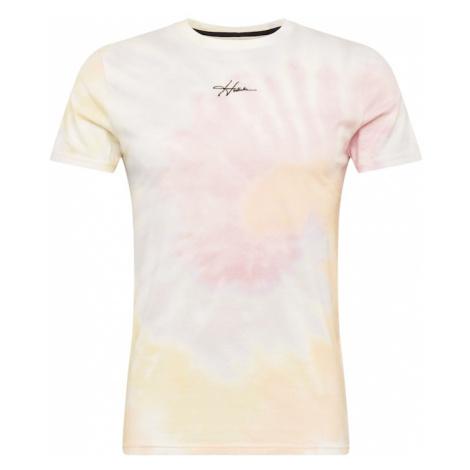 HOLLISTER Tričko  svetloružová / pastelovo žltá / biela