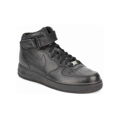 Nike AIR FORCE 1 MID 07 LEATHER Čierna