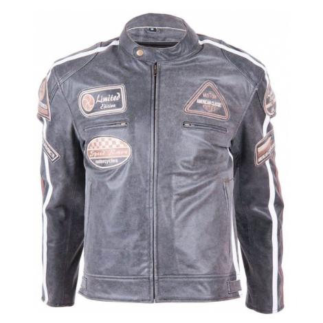 Kožená moto bunda BOS 2058 Vintage grey Farba šedá