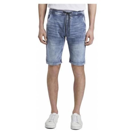 Modré pánske džínsové kraťasy Tom Tailor Denim