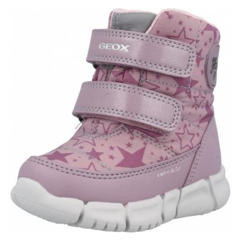 GEOX Snehule  staroružová / rosé