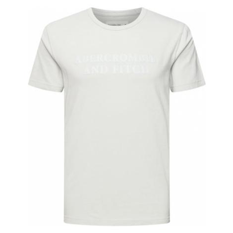 Abercrombie & Fitch Tričko  svetlosivá / biela