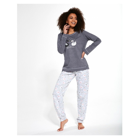 Dámske pyžamo Cornette 381/257 Swan LL Tmavě šedá