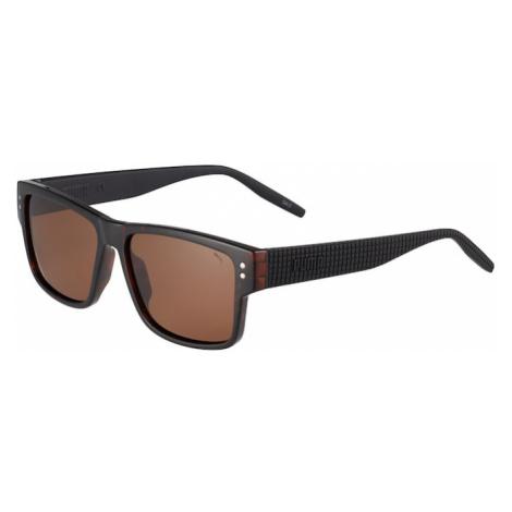 PUMA Slnečné okuliare 'PU0269S-001 57 MAN INJECTION'  čierna / tmavohnedá
