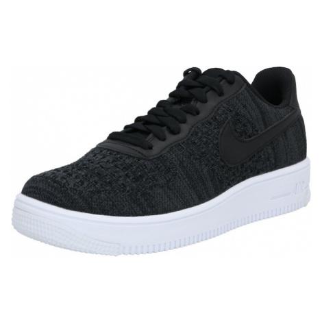Nike Sportswear Nízke tenisky 'Air Force 1 Flyknit 2.0'  biela / čierna