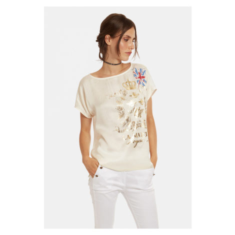 Tričko La Martina Woman T-Shirt Viscose Satin