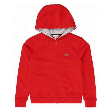 LACOSTE Tepláková bunda  červená