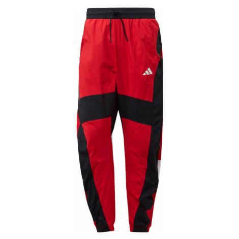 ADIDAS PERFORMANCE Športové nohavice 'O Shape'  biela / červená / čierna