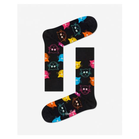 Happy Socks Cat Ponožky Čierna
