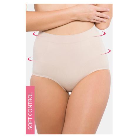 Sťahovacie bezšvové nohavičky - lepené lemy béžová Hanna Style