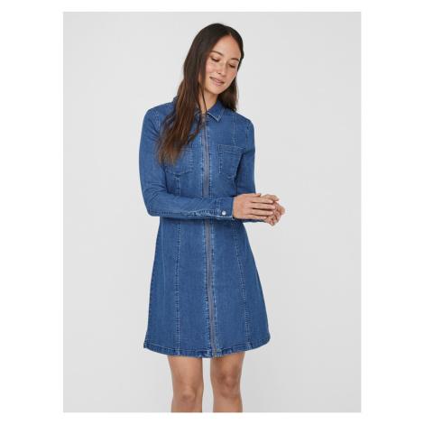 Modré rifľové šaty Noisy May Lisa