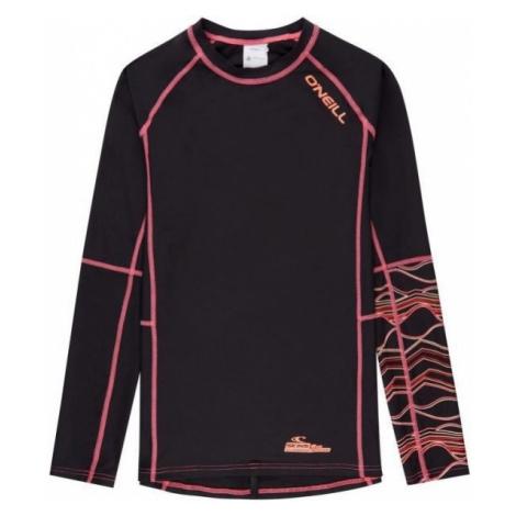 O'Neill PG LONG SLEEVE SKINS čierna - Dievčenské tričko s UV filtrom