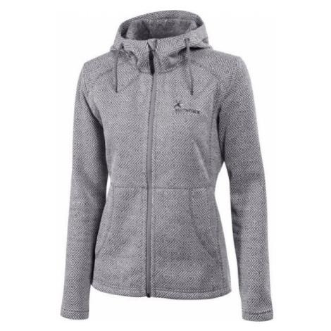 Klimatex LENDA šedá - Dámsky outdoorový sveter s kapucňou
