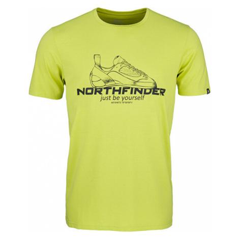 Northfinder Pánske tričko Allan Regular Fit TR-3540OR Green