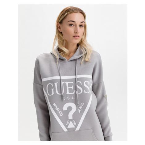 Guess Triangle Logo Šaty Šedá