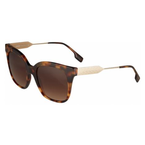 BURBERRY Slnečné okuliare 'EVELYN'  hnedá / zlatá
