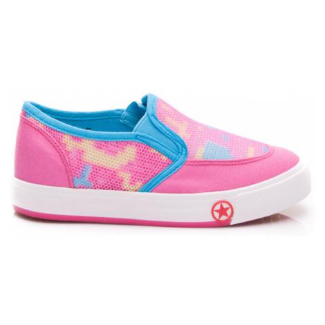 Športové detské topánky - ružovo-modré BONA