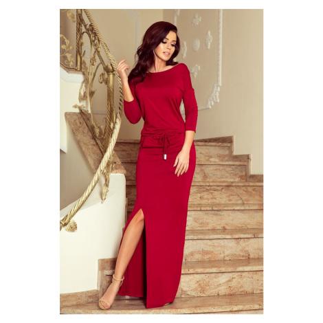 Dámske bordové dlhé šaty EDDA 220-3
