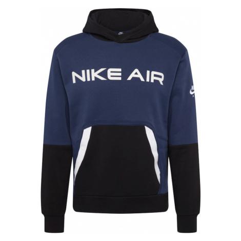 Nike Sportswear Mikina  biela / čierna / námornícka modrá