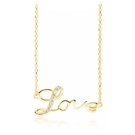 OLIVIE Strieborný náhrdelník LOVE GOLD 4081