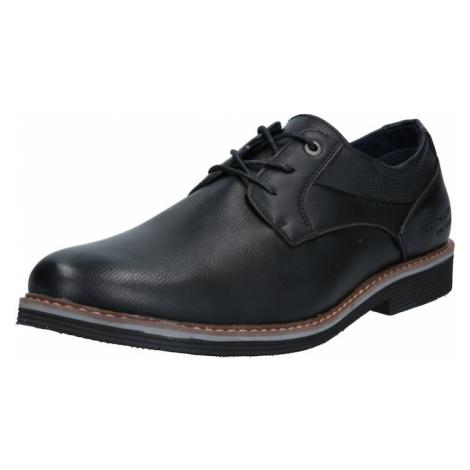 TOM TAILOR Šnurovacie topánky  čierna