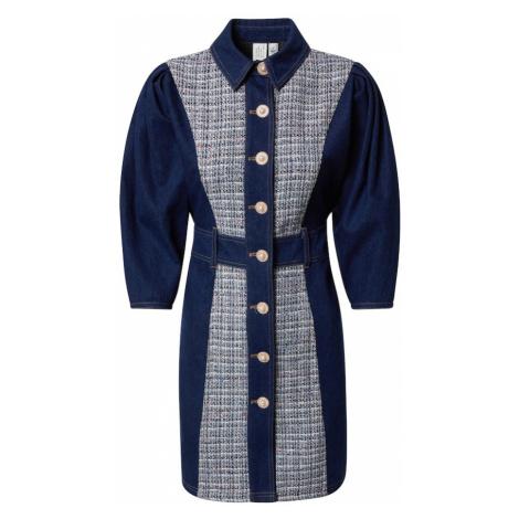 River Island Košeľové šaty  tmavomodrá / modrá denim