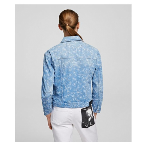 Bunda Karl Lagerfeld Orchid Printed Denim Jacket