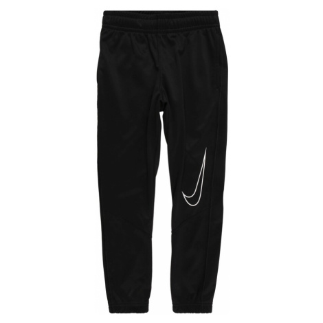 NIKE Športové nohavice 'Therma'  biela / čierna