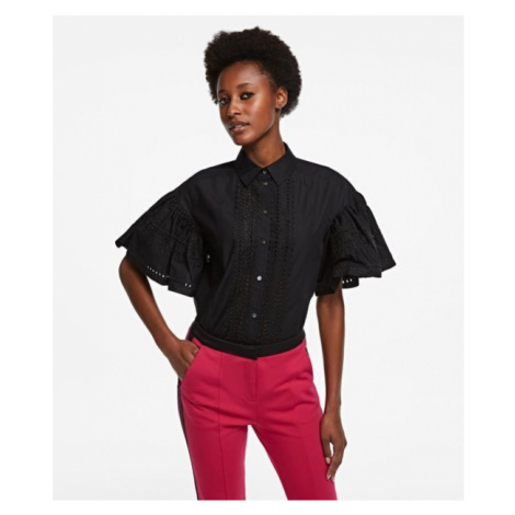 Košeľa Karl Lagerfeld Embroidered Poplin Shirt